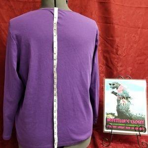 CJ Banks Tops - Purple CJ Banks 2x Long Sleeve T Shirt